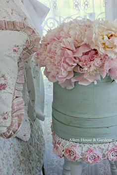 Peonies at the bedside  -- delightful.