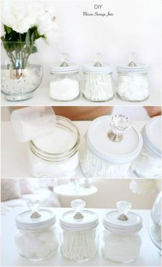 Upcycled Mason Jars into Cool Storage Jars – 22 Genius DIY Home Decor Projects You Will Fall in Love with! Upcycled Mason Jars into Cool Storage Jars – 22 Genius DIY Home Decor Projects You Will Fall in Love with! Upcycled Home Decor, Retro Home Decor, Handmade Home Decor, Unique Home Decor, Cheap Home Decor, Creative Decor, Diy Decorations For Home, Diy Home Decor Projects, Decor Crafts