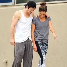 WORKING IT OUT photo | Ian Somerhalder, Nikki Reed