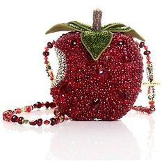 Mary Frances First Bite Beaded Apple Bag