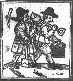 Workmen from The Naked Truth, Roxburghe Ballads Legend Drawing, Jacobean, Historical Pictures, Famous People, Primitive, Naked, Gothic, England, Portraits