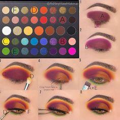 Eye Makeup Steps, Makeup Eye Looks, Beautiful Eye Makeup, Eye Makeup Art, Crazy Makeup, Bright Eye Makeup, Colorful Eye Makeup, Makeup Morphe, Makeup Pictorial