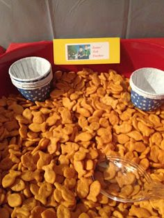 Quints Fish Crackers Candy Pretzel Parties: Curious George Birthday