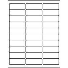 Printable Address Label Template For A Envelopes  Return Address