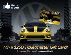 With so many fabulous concerts around the corner, you need to save up! We can help with our $250 Ticketmaster Gift Card! Enter here for a chance to win: http://blazonapp.com/commonwealth-vw/enter-to-win-a-free-ticketmaster-gift-card-/4802