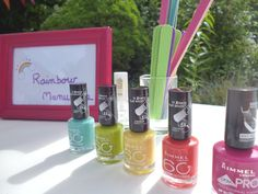 rainbow party manicures - a would love this!