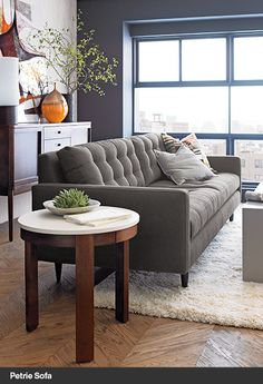 Crate and Barrel // Petrie Apartment Sofa (View II)