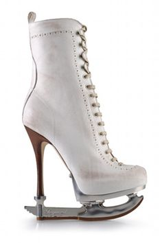 Stiletto ice skate...as if balancing on regular ice skates was tricky enough!