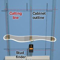 How to install a recessed medicine cabinet.