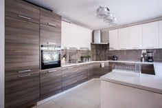 Image de la grande cuisine de luxe am nag dans un design moderne Banque d'images