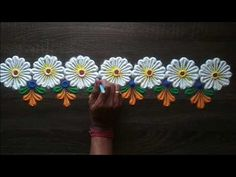 Easy Border Rangoli Design For Beginners - Jammu Rangoli Side Designs, Rangoli Designs Peacock, Simple Rangoli Border Designs, Easy Rangoli Designs Diwali, Rangoli Designs Latest, Rangoli Borders, Free Hand Rangoli Design, Small Rangoli Design, Colorful Rangoli Designs