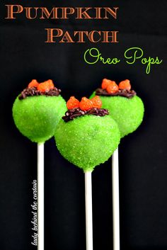 Pumpkin Patch Oreo Pops - Lady Behind the Curtain