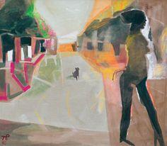 Teresa Pągowska (Polish, 1926-2007), ALEJA-JESIEŃ, 1990. Tempera and acrylic on canvas, 140 x 160 cm Yue Minjun, Public Garden, Tempera, Ancient Art, Oil On Canvas, African, Painting, Polish, Old Art