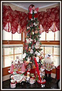 fabulous red curtains - Christmas Kitchen Curtains