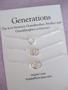 60th Birthday Gift Ideas For Women Generations Necklace Mom Mother Daughter Grandmother