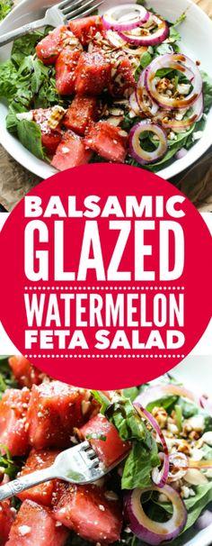 Balsamic Watermelon Feta Salad. - Layers of Happiness