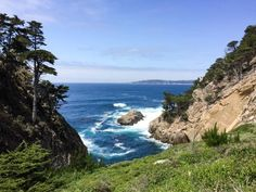 Visit Point Lobos State Park along scenic Highway One in California for beautiful coastal views and enjoyable trail walks! Carmel Beach, Carmel By The Sea, Pacific Crest Trail, Pacific Coast Highway, Point Lobos State Reserve, Monterey Cypress, Beach Trip, Beach Travel, Surfing Pictures