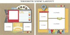favoriteview, sketch, scrapbook disney, eubank blog, disney layout, layout inspir, scrapbook layout, jana eubank, road rash