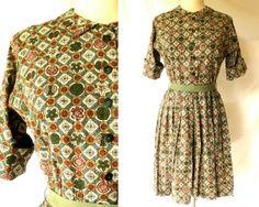 Mid Century 50s 60s Shirtwaist Dress by Serbin by ModLoungeVintage, $84.00