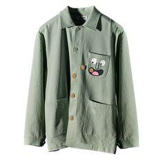 Button Eater Jacket – nounou Christmas Gift Guide, Christmas Gifts, Christian Robinson, Pajama Suit, Top To Toe, Work Jackets, Big Kids, Illustrators, Military Jacket