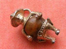 Vintage Charms Jewelry - Bracelet Charm. VINTAGE STERLING SILVER CHARM TOUCH WOOD WUD COWBOY