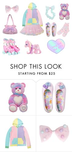 """""""Long live the 80s"""" by sweetpasteldream ❤ liked on Polyvore featuring Bodyline and My Little Pony"""