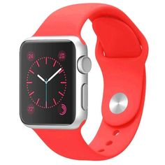 Silicone Band for Apple Watch Series 1/2 Pink iWatch Wrist Soft Sport Strap New #FanTEK