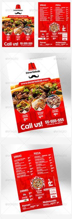 Doner Kebab A5 Flyer