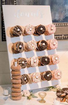 25 Wedding Donuts - a fun alternative wedding dessert Ideas - Donut wall springwedding 21st Bday Ideas, 21st Birthday Decorations, Graduation Party Centerpieces, 21st Party, 13th Birthday Parties, 17th Birthday Party Ideas, 18th Party Ideas, Birthday Bar, Birthday Brunch
