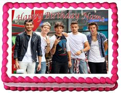 Edible Cake Topper One Direction ** Want to know more, visit : baking decorations