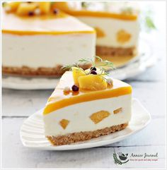No-Bake Mango Yogurt Cheesecake 免考芒果优格芝士蛋糕 | Anncoo Journal - Come for Quick and Easy Recipes