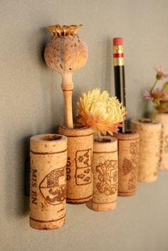 Wine Cork Magnets DIY Royal Set of 7. $12.00, via Etsy.