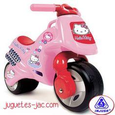 Moto de de la Hello Kitty rosa de Injusa a partir de 2 años.