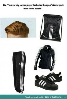 Soccer player starter pack