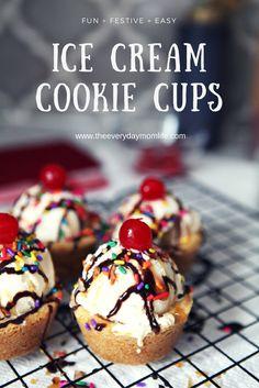 Frozen Desserts, Frozen Treats, Easy Desserts, Delicious Desserts, Dessert Recipes, Sweet Desserts, Pillsbury Sugar Cookie Dough, Cookie Dough Recipes, Ice Cream Cookies