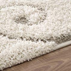 nuLOOM Soft and Plush Vine Swirls Ivory/ Beige Shag Area Rug