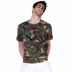 Camiseta Camuflaje manga corta hombre