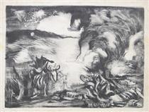 Landscape with Steer 1937