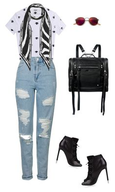 """""""NY AFFAIR"""" by marta-isabella ❤ liked on Polyvore featuring Kenzo, Ray-Ban, Topshop, Rockins, McQ by Alexander McQueen and Yves Saint Laurent"""