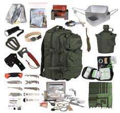 Survival Set, Outdoor Survival, Survival Prepping, Bushcraft Camping, Tent, Trekking, Hiking, Military, Survival Backpack