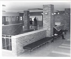 Hogan Physical Education Center Interior, Alma College: Archival photographs.