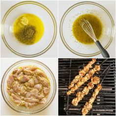 Chicken gyros marinated in a marinade, grilled, and served with cucumber salad and tzatziki sauce. The best chicken gyro recipe out there! Best Chicken Gyro Recipe, Chicken Gyros, Marinated Chicken, Chicken Flavors, Easy Chicken Recipes, Gyro Salad, Greek Gyros, Greek Recipes, Greek Meals