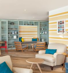 The Ocean Room - Watergate Bay Hotel Ocean Room, Hotel Decor, St Ives, Cornwall, Get One, Interior Styling, Bookshelves, Envy, Coastal