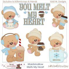 Marshmallow Melts My Heart Exclusive Store Templates {CU} : Kitten Scraps