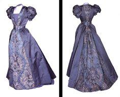 Evening dress by JC Webber, Maidenhead, ca 1892 England, the Bowes Museum