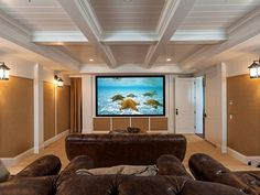 Media Room | Cape Cod oceanfront beach house located on the white sands of Strands Beach | Dana Point, CA
