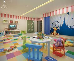 Daycare Design, Playroom Design, School Design, Kindergarten Interior, Kindergarten Design, Hotels For Kids, Preschool Rooms, Classroom Decor Themes, Home Daycare
