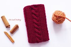 Knitted Phone case, knitted dark red iPhone Case knit gray phone cozy knitted phone sleeve, hand knitted sleeve iphone 5 knitted accessories by CuteLambKnitting on Etsy