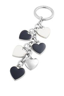 Esprit / Keyring with enamelled heart charm
