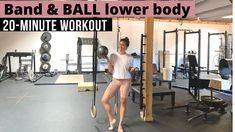 Sharing a new lower body workout using two of my favorite tools: the Pilates ball and the resistance band loop. | Lower Body Workouts | The Fitnessista At Home Workouts For Women, Gym Workouts Women, Workout Routines For Beginners, Workout Videos, Body Workouts, Leg Routine, Full Body Workout Routine, Beginner Workout Program, Workout Programs